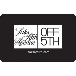 Saks Fifth Avenue Off 5th eGift Card found on Bargain Bro from Giftcardmall.com for USD $38.00