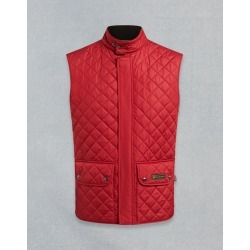 Belstaff QUILTED WAISTCOAT Red US 40 / found on MODAPINS from belstaff.com for USD $177.00