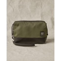 Belstaff Kit Wash Bag (Green, One Size, Cotton) found on Bargain Bro from belstaff.com for USD $117.80