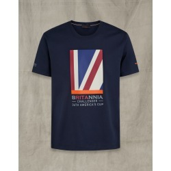 Belstaff Britannia Quarter Flag T-Shirt Blue 3XL found on Bargain Bro India from LinkShare USA for $77.00