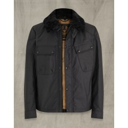 Belstaff PATROL WAXED COTTON JACKET WITH SHEARLING Black US 40 / found on MODAPINS from belstaff.com for USD $795.00