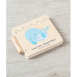 Love You, Sweet Boy! Wooden Baby Book