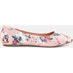 35cc3d523bea Ardene Floral Pointy Flats Pink 6ardene.com