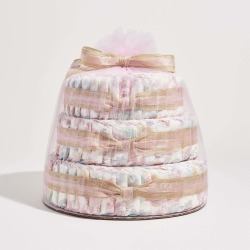 The Honest Company Baby Diaper Cake, Rose Blossom, Hypoallergenic, Plant-Based, Plant-Derived Ingredients