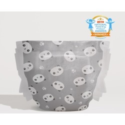 Honest Baby Diapers, Pandas, Size Newborn, Hypoallergenic, Super-Absorbent, Eco-Friendly, Advanced Leak protection, Plant-Based