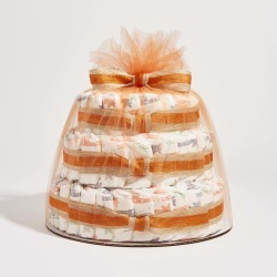 The Honest Company Baby Diaper Cakes Multi-Colored Giraffes, Hypoallergenic, Plant-Based, Plant-Derived Ingredients