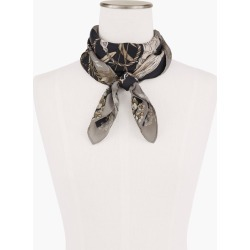 Echo Floral Silk Square Scarf - Black - 001 Talbots found on Bargain Bro India from Talbots for $79.50