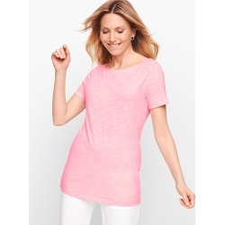 Twist Back Jersey T-Shirt - Blooming Pink - Large - 100% Cotton Talbots found on Bargain Bro Philippines from Talbots for $17.49