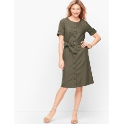 Fluid Twill Shirtdress - Rosemary - 4 Talbots found on Bargain Bro Philippines from Talbots for $44.99