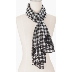 Gingham Eyelet Oblong Scarf - Ivory - 001 - 100% Cotton Talbots found on Bargain Bro India from Talbots for $54.99