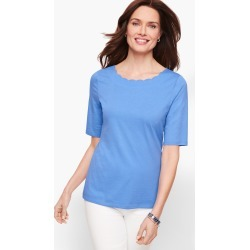 Scallop T-Shirt - Blue Wave - XS Talbots found on Bargain Bro Philippines from Talbots for $17.49