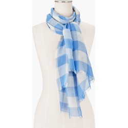 Spring Gingham Oblong Scarf - Blue Wave - 001 Talbots found on Bargain Bro India from Talbots for $44.99