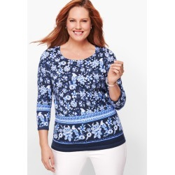 Button Cuff Sweater - Toile - Ink - 3X Talbots found on Bargain Bro Philippines from Talbots for $24.99
