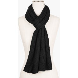 Supersoft Cableknit Scarf - Solid - Black - 001 Talbots found on Bargain Bro India from Talbots for $54.50