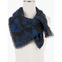 Border Floral Oblong Scarf - Black - 001 Talbots found on Bargain Bro India from Talbots for $69.50