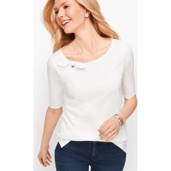 Tie Detail T-Shirt - White - XS Talbots found on Bargain Bro Philippines from Talbots for $17.49