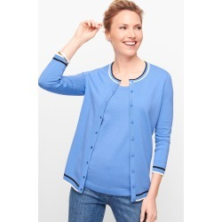Charming Cardigan Sweater - Tipped - Blue Wave - XXS Talbots found on Bargain Bro Philippines from Talbots for $24.99
