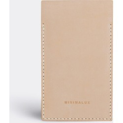 Minimalux Tech And Tools - Leather iPhone 5/5s sleeve in Natural leather Untreated Natural vegetable ta