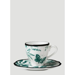 Gucci Herbarium Coffee Cup and Saucer Set in Green size One Size