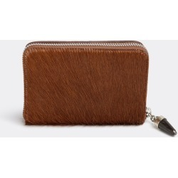 Kenall Bags and Accessories - 'Mini Vaquita' wallet in Cognac Hair on calf, cow horn, alpaca