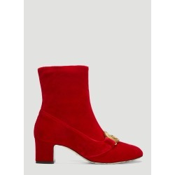Gucci GG Logo Velvet Ankle Boots in Red size EU - 36 found on MODAPINS from LN-CC (UK) for USD $1156.22