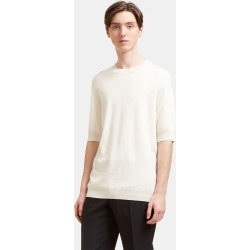 Aiezen Silk and Cashmere-Blend Fine-Knit T-Shirt in White found on MODAPINS from LN-CC (UK) for USD $292.68