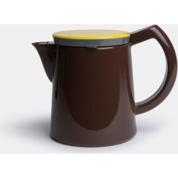 Hay Tea And Coffee - Coffee pot, medium in Brown Porcelain, Stainless steel and