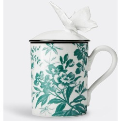 Gucci Tea and Coffee - 'Herbarium' butterfly mug in Emerald Porcelain