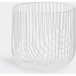 Bend Goods Organising - 'Basket', small in White Hot Dip Galvanized Iron - Powd