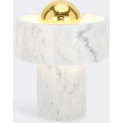 Tom Dixon Lighting - 'Stone' table lamp in white, brass marble glass and brass found on Bargain Bro UK from wallpaper
