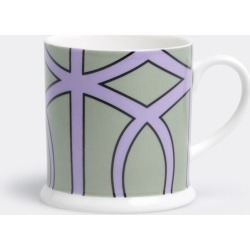 O.W. London Tea And Coffee - 'Loop' espresso cup in Slate, Violet Fine bone china