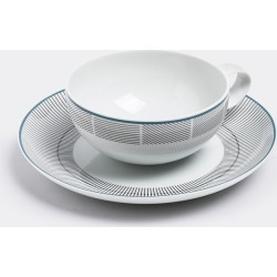 Vista Alegre Tea And Coffee - 'Orquestra' tea cup and saucer in White, Grey Porcelain