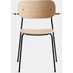 Menu Furniture - 'Co Chair' with armrests, oak in Natural oak Powder Coated Steel, Plywood,