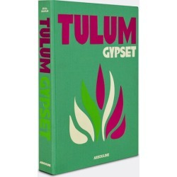 Assouline Books And City Guides - 'Tulum Gypset' in green, pink cloth, paper