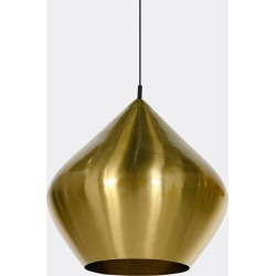 Tom Dixon Lighting - 'Beat' pendant, stout in Brushed brass Brushed brass found on Bargain Bro UK from wallpaper