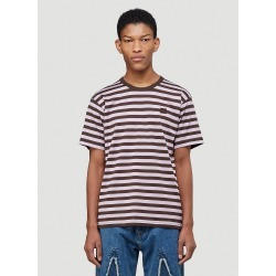 Acne Studios Striped Logo T-Shirt in Purple found on MODAPINS from LN-CC (UK) for USD $191.56