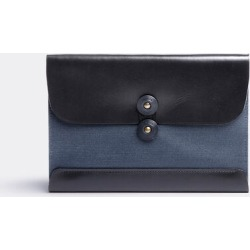 Postalco Bags and Accessories - Postcard wallet in Navy blue Cotton, Cowhide Trim found on Bargain Bro UK from wallpaper