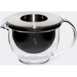 Kinto Tea And Coffee - 'Globo' teapot in Clear, steel Heat-resistant glass, stainles