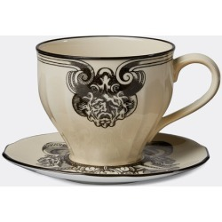 Gucci Tea And Coffee - 'Star Eye' demitasse cup and saucer, set of two, white in Vintage ivory Porcelain