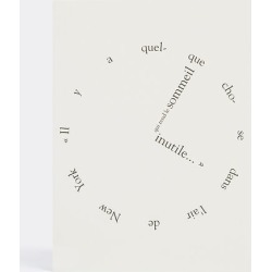 La Rêveuse Writing - 'Simone de Beauvoir' greetings card in Natural, Black 100g FSC certified eggshell, G