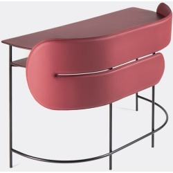 Dante - Goods And Bads Furniture - 'Myself and I', bordeaux in Bordeaux Powder coated steel, leather