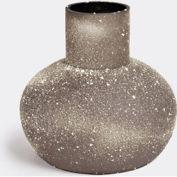 Sophie Dries Architect Vases - 'Xupa' vase in Dark Brown And White black stoneware and projected found on Bargain Bro UK from wallpaper