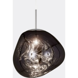 Tom Dixon Lighting - 'Melt' pendant, smoke in smoke silver polycarbonate found on Bargain Bro UK from wallpaper