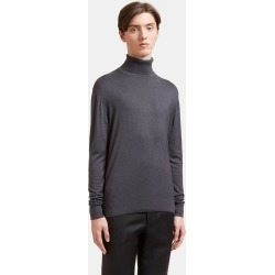 Aiezen Men's Ribbed Roll Neck Sweater in Dark Grey found on MODAPINS from LN-CC (UK) for USD $212.85