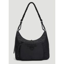 Prada Braided Handle Bag in Black size One Size found on Bargain Bro UK from LN-CC (UK)