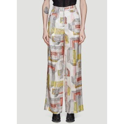 Olivier Theyskens Silk Printed Pants in White found on Bargain Bro UK from LN-CC (UK)