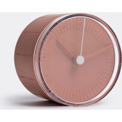11 + Mirrors and Clocks - World Clock in Orange passion Polycarbonate 100%