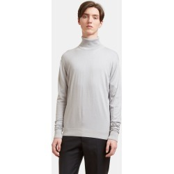 Aiezen Men's Ribbed Roll Neck Sweater in Light Grey found on MODAPINS from LN-CC (UK) for USD $212.85