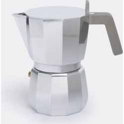 Alessi Tea And Coffee - 'Moka' espresso coffee maker, three cups in Silver stainless steel