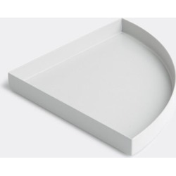 AYTM Serving And Trays - 'Unity' quarter circle tray in Light Grey Iron, Paint